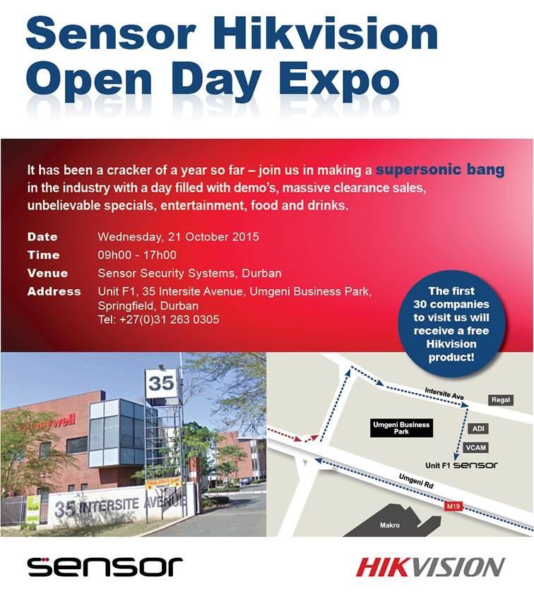 Sensor Durban Open Day October 2015