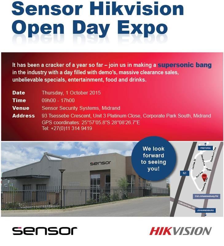 Sensor Gauteng Open Day October 2015